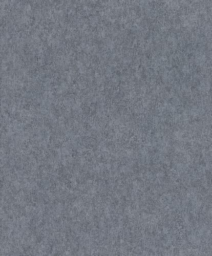 Non-Woven Wallpaper Rasch Plain Plaster dark blue 617146