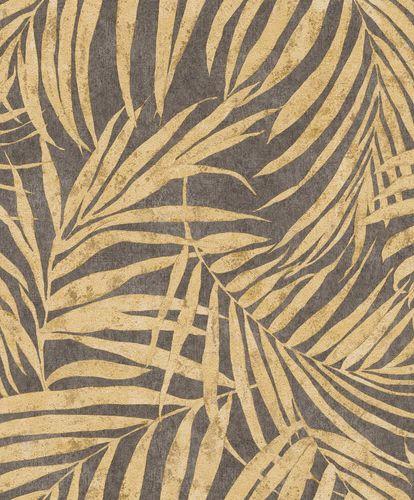 Non-Woven Wallpaper Rasch Leaves gold 617450