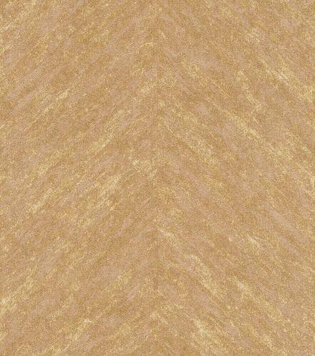 Non-Woven Wallpaper Rasch Stripes Fishbone gold 617535