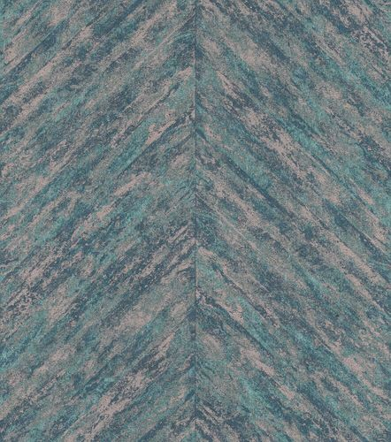 Non-Woven Wallpaper Rasch Stripes Fishbone blue 617542