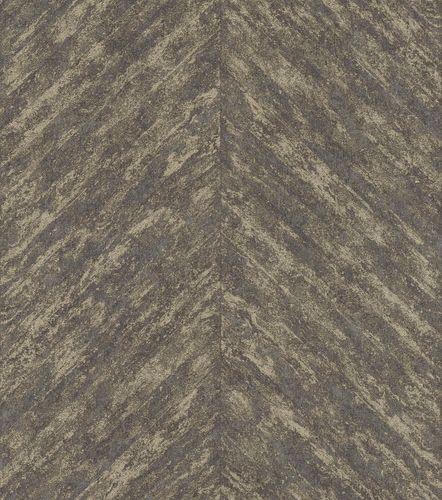 Non-Woven Wallpaper Rasch Stripes Fishbone black 617559