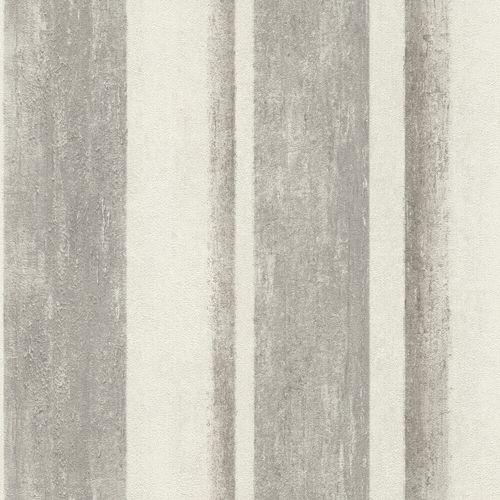 Non-Woven Wallpaper Rasch Blockstripes grey 617764