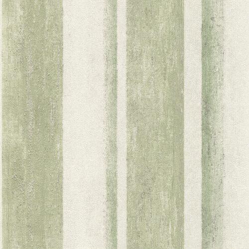 Non-Woven Wallpaper Rasch Blockstripes green 617771