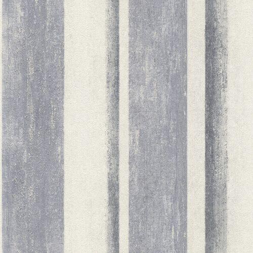 Non-Woven Wallpaper Rasch Blockstripes blue 617788