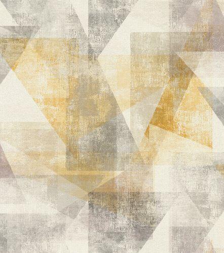 Non-Woven Wallpaper Rasch Graphic yellow grey 617948