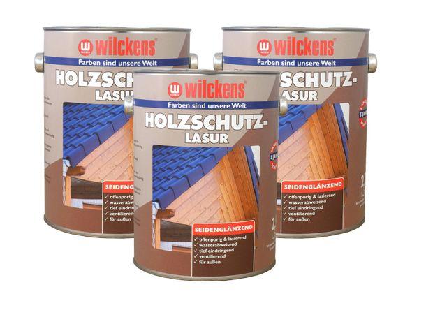 Holzschutzlasur 2,5l Lasur Wetterschutz Wilckens 6 Farben