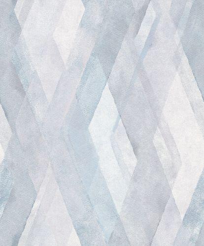 Non-Woven Wallpaper Diamond Graphic blue white 32448