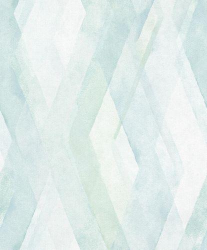 Non-Woven Wallpaper Diamond Graphic green blue 32450