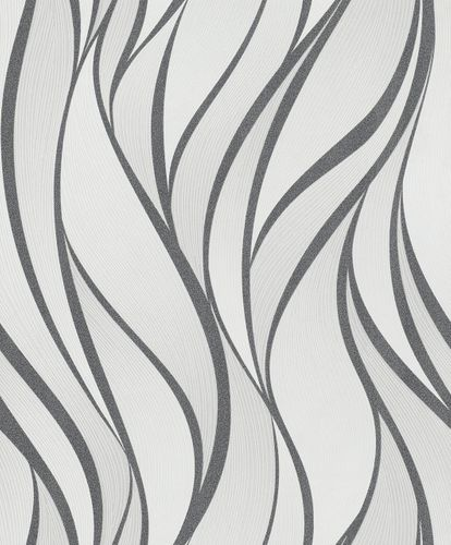 Non-Woven Wallpaper Waves Graphic black Gloss 82232
