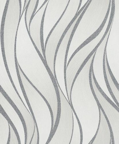 Vliestapete Wellen Grafisch weiß grau Glanz Hailey 82233