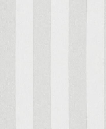 Non-Woven Wallpaper Block Stripes light grey white 82258