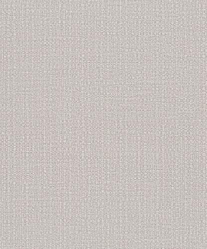 Vliestapete Bast-Optik Metallic greige kupfer 32807