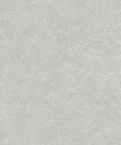Non-Woven Wallpaper Plaster Look Metallic grey 32815