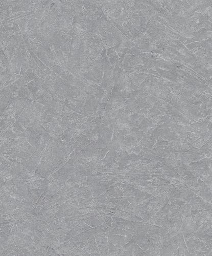 Non-Woven Wallpaper Plaster Look Metallic grey 32816