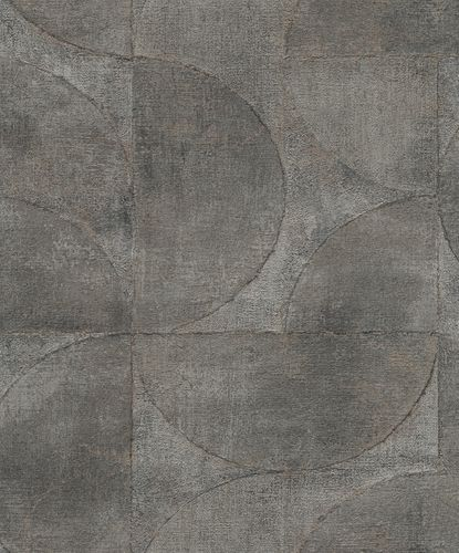 Non-Woven Wallpaper Semicircle Metallic brown gold 32821