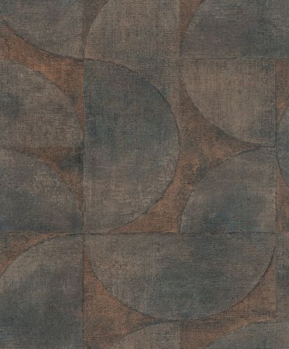Non-Woven Wallpaper Semicircle Metallic brown 32822