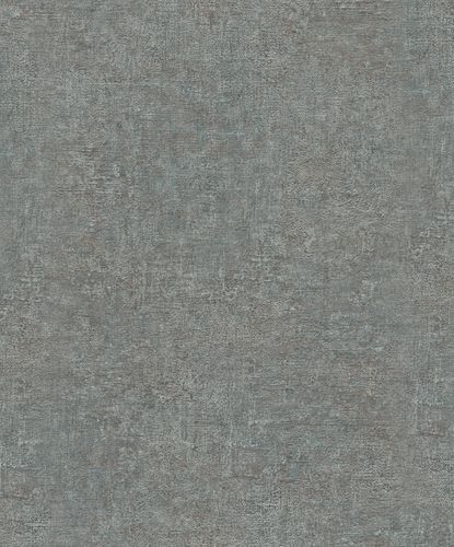 Non-Woven Wallpaper Structure Plain Metallic green 32827