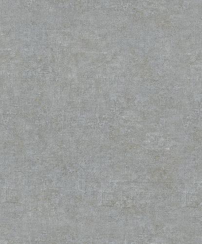 Vliestapete Struktur Uni Metallic grau gold 32832