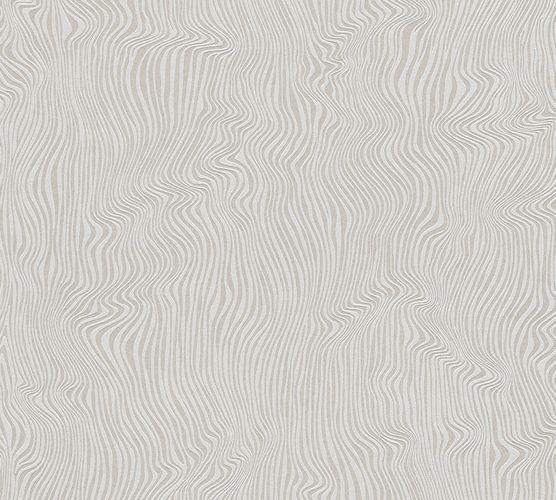 Vliestapete Wellen 3D grau Metallic Glitzer 37761-3