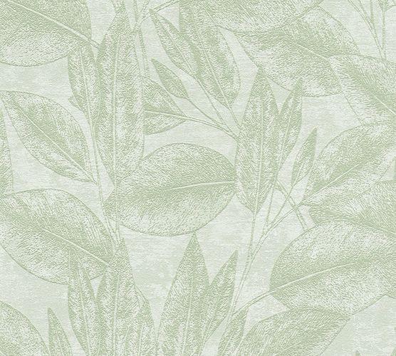 Vliestapete Blätter Floral grün AS Creation 37836-3