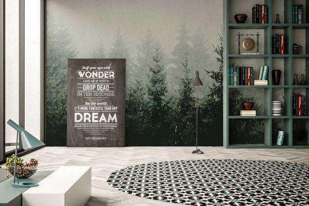 Fototapete Vlies Premium Wald Tannen grün