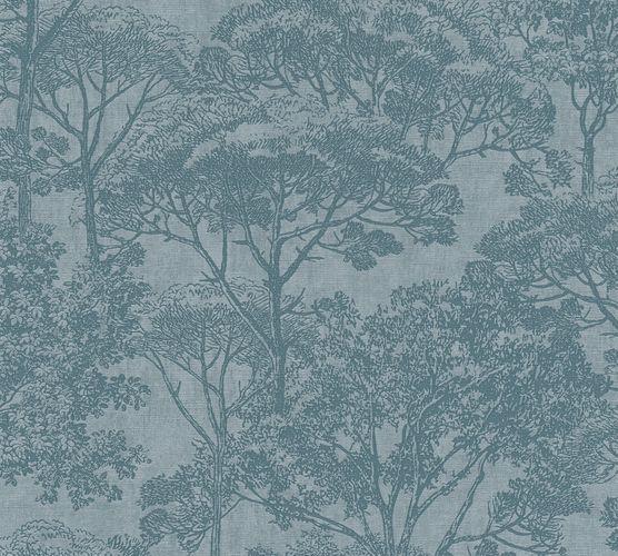 Non-Woven Wallpaper Trees Nature blue 38023-2