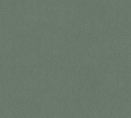 Vliestapete Uni Textil-Optik dunkelgrün 37703-4