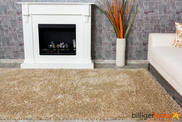 Teppich Hochflor Shaggy OSLO beige 80x150 online kaufen