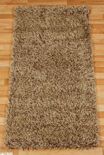 Carpet / rug  Shaggy OSLO brown 80 cm x 150 cm / 31.5 '' x 59.1 ''