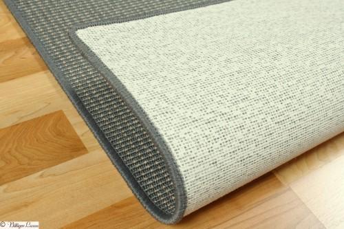 Teppich grau Sisal Optik Baltrum Flachgewebe 80x150 cm online kaufen