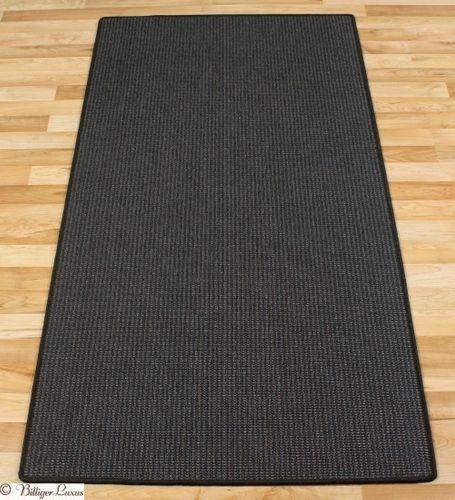 Carpet rug flat woven BALTRUM 80 cm x 150 cm anthracite