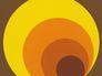 Tapete AS Retro Deluxe Kreise braun rot Orange 7013-12 001
