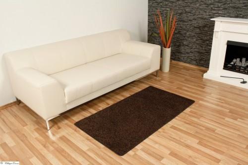 Teppich Hochflor braun Rhodos 80x150 B-Qualität online kaufen