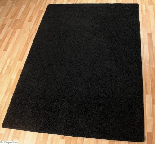 teppich hochflor schwarz rhodos 160x230 b qualit t. Black Bedroom Furniture Sets. Home Design Ideas