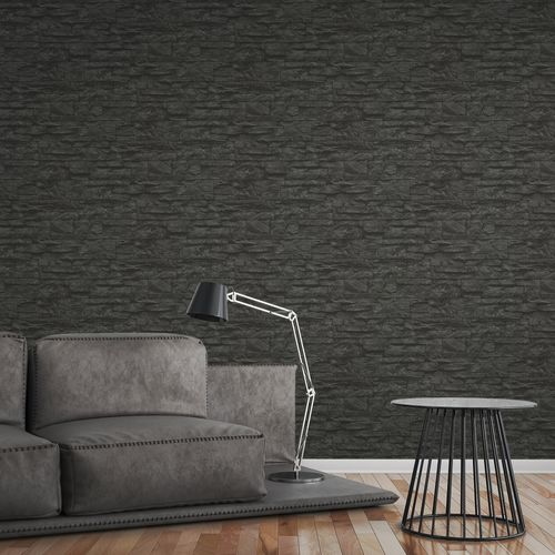 Wallpaper natural stone bricks black AS Creation 7071-23 online kaufen