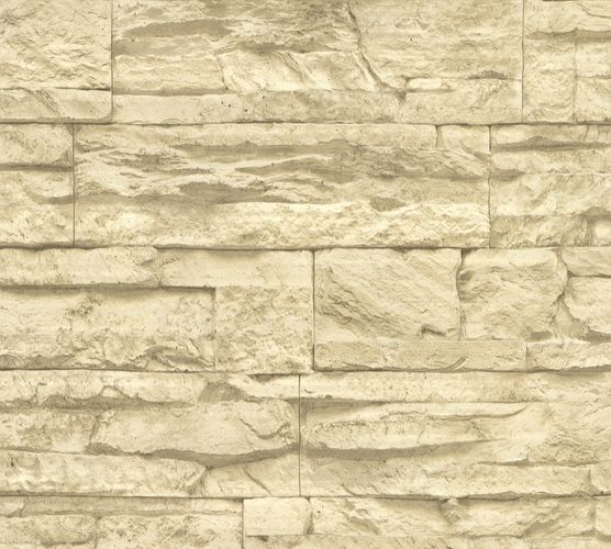 Wallpaper natural stone bricks beige AS Creation 7071-30