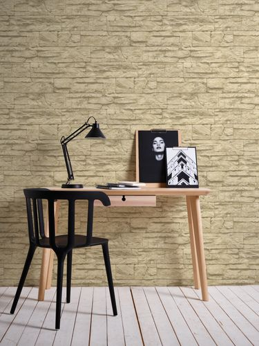 Wallpaper natural stone bricks beige AS Creation 7071-30 online kaufen