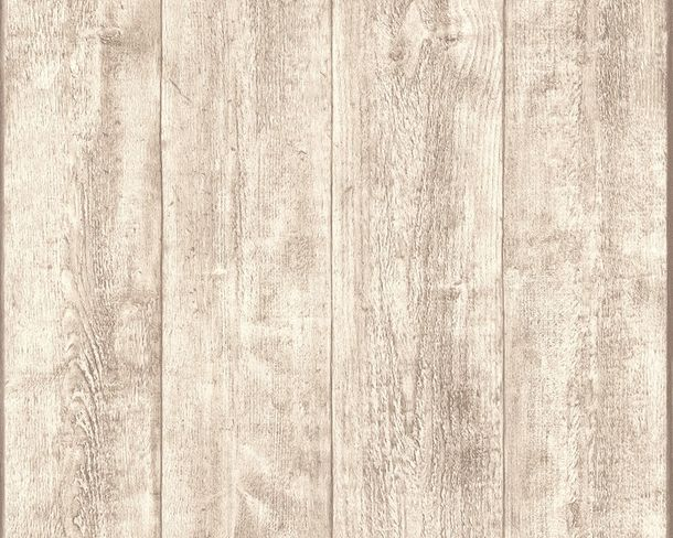 Wallpaper wooden style board cream AS Creation 7088-30