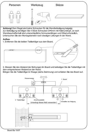 Wandregal Board Groß Hochglanz, in drei Farben. – Bild 2