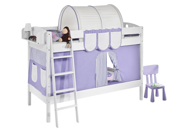 Etagenbett Zubehör Vorhänge : Etagenbett filly weiß mit vorhang und lattenroste möbel