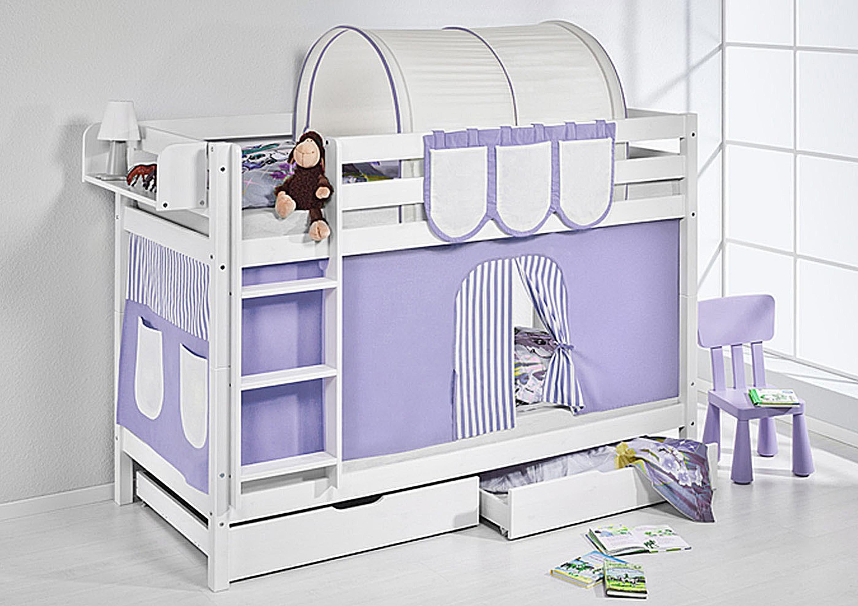 Etagenbett Weiss Mit Lattenrost : Etagenbett weiß weisses doppelbett für kinder stockbett
