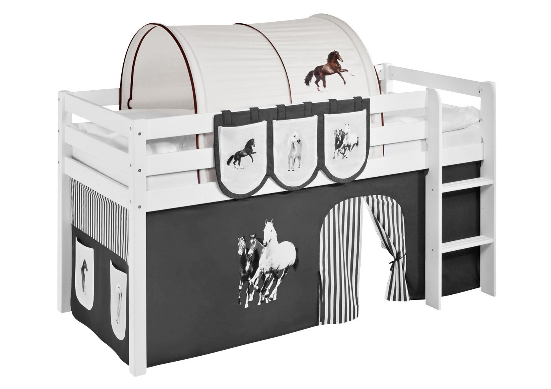 Tunnel Set Etagenbett : Tunnel pferde braun beige für hochbett spielbett und etagenbett