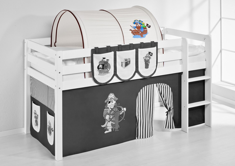 tunnel pirat braun beige f r hochbett spielbett und etagenbett m bel baby kinderzimmer zubeh r. Black Bedroom Furniture Sets. Home Design Ideas