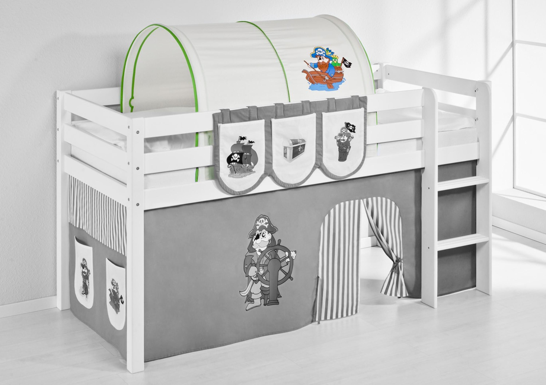 tunnel pirat gr n beige f r hochbett spielbett und etagenbett m bel baby kinderzimmer zubeh r. Black Bedroom Furniture Sets. Home Design Ideas