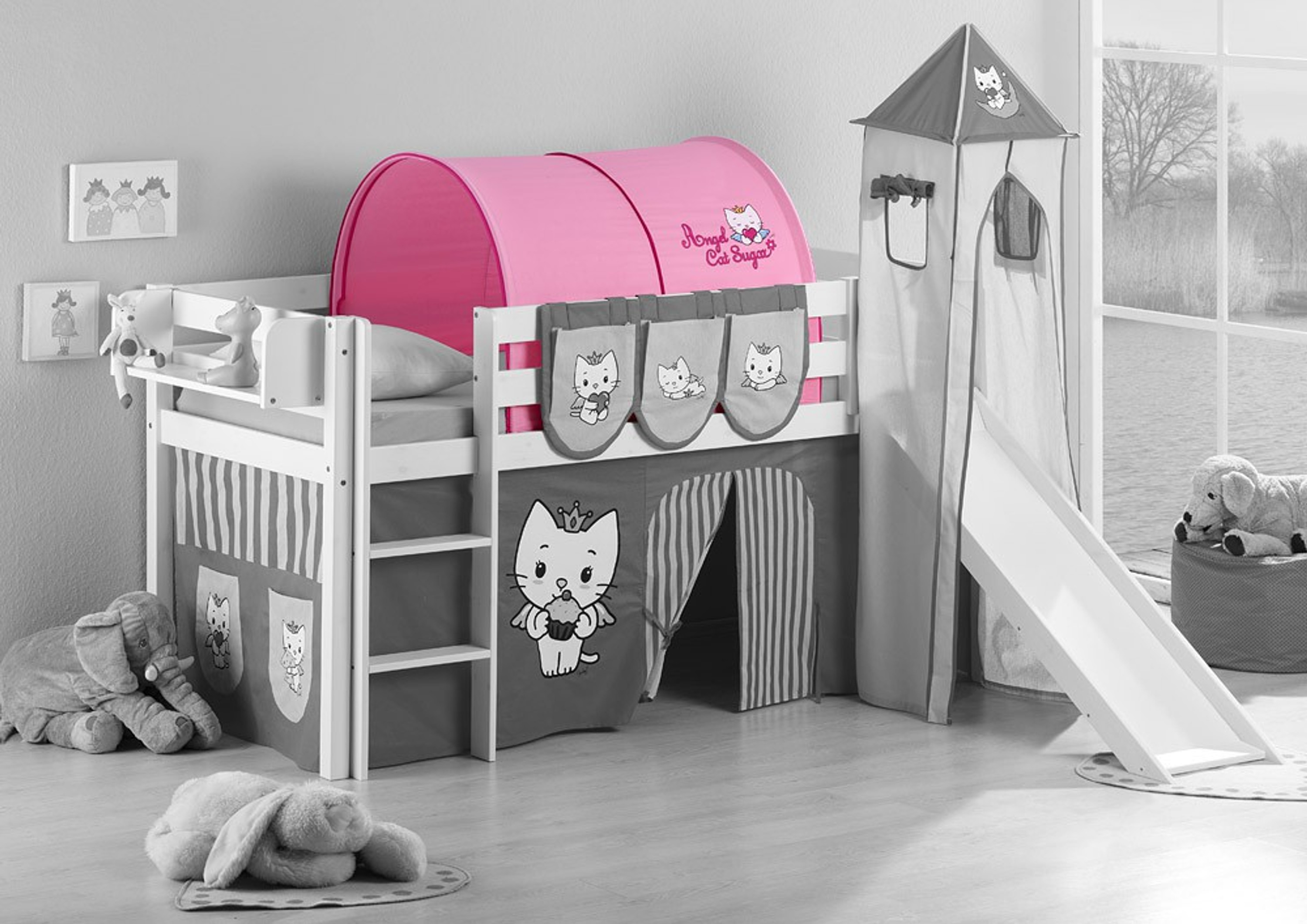 tunnel angel cat sugar f r hochbett spielbett und etagenbett m bel baby kinderzimmer zubeh r. Black Bedroom Furniture Sets. Home Design Ideas