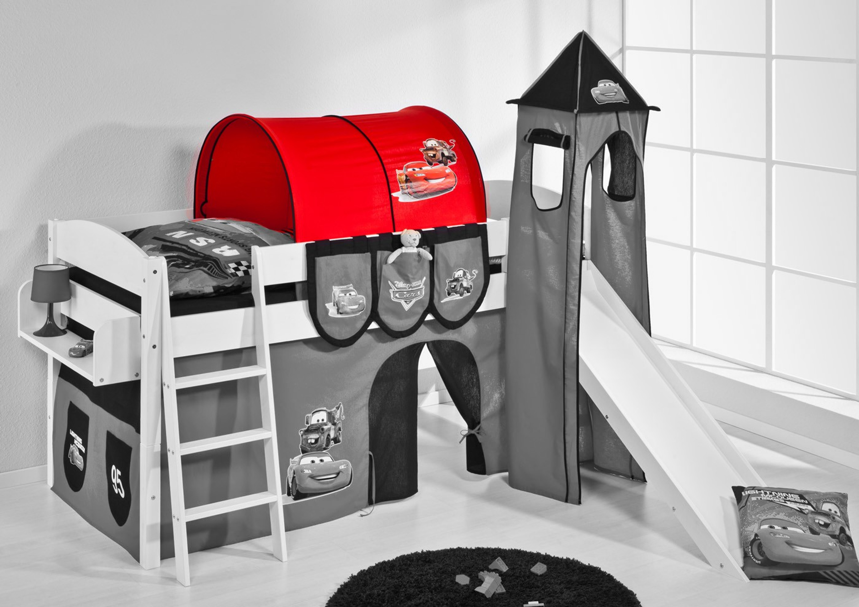 tunnel disney cars f r hochbett spielbett und etagenbett m bel baby kinderzimmer zubeh r. Black Bedroom Furniture Sets. Home Design Ideas