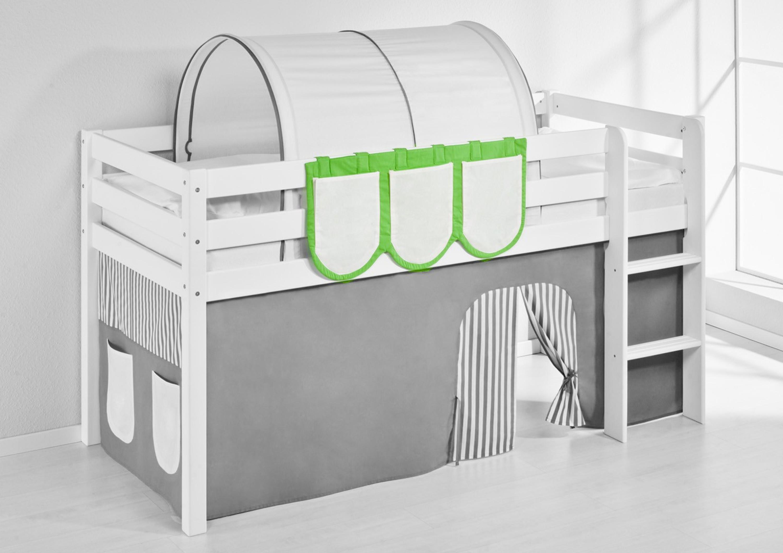 h ngetaschen gr n beige f r hochbett spielbett und etagenbett m bel baby kinderzimmer zubeh r. Black Bedroom Furniture Sets. Home Design Ideas