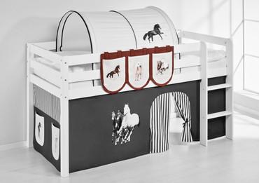 Hängetaschen Pferde Braun Beige - für Hochbett, Spielbett und Etagenbett  – Bild 2