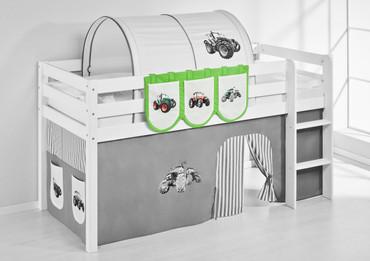 Hängetaschen Trecker Grün Beige - für Hochbett, Spielbett und Etagenbett  – Bild 2