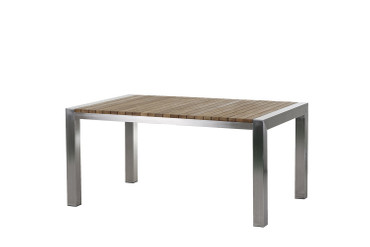 Napoli Tisch Edelstahl/Teak – 160cm